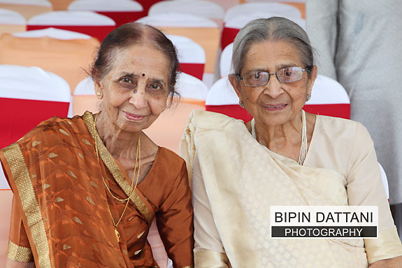 Brides grandmothers enjoying the destination hindu wedding ceremony
