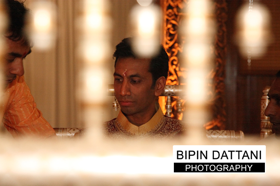 Groom waiting in the Mandap