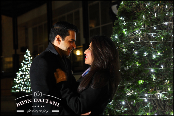 pre wedding photo shoot in london at night