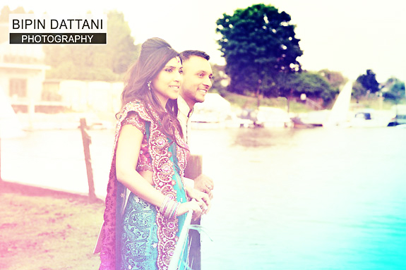 best hindu couples portrait near thames river by top wedding photographers in London
