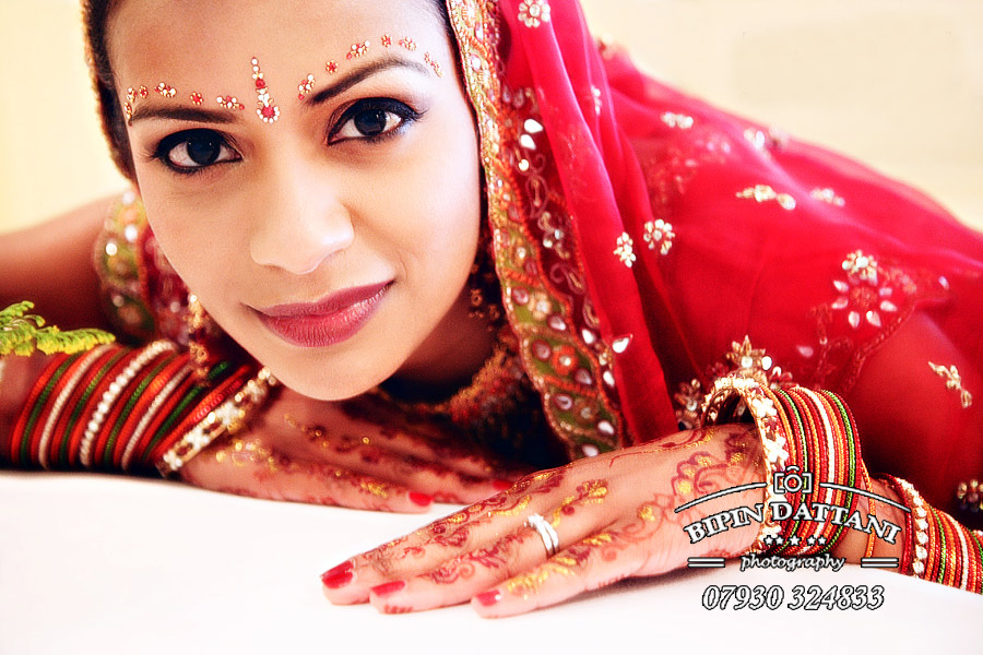 bridal portrait in Kennington-London-by indian wedding photographer Bipin Dattani