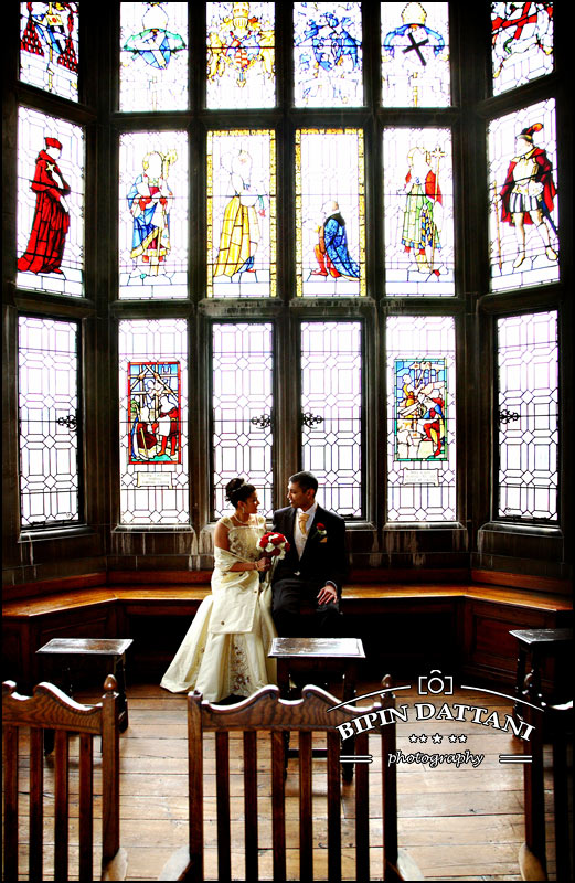 Indian couples registry wedding at Harrow school prior to Indian wedding