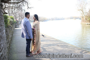 indian couple pre wedding session near river thames