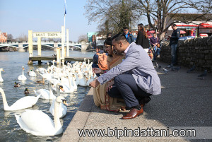 asian pre wedding session near river thames