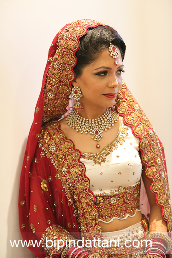bride's portrait for her indian wedding photography album