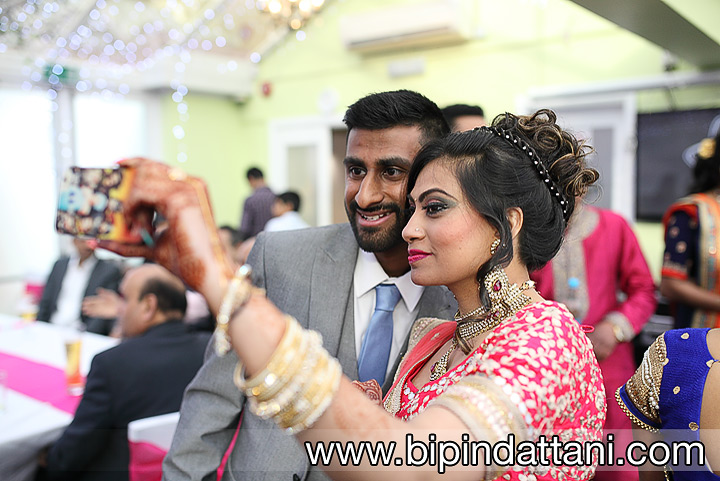 Couple selfie by professional photography services in harrow at The Mumbai Junction Restaurant
