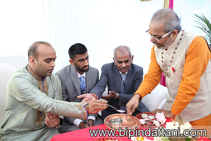 Engagement traditions ceremony by indian priest in harrow, Mumbai Junction Restaurant