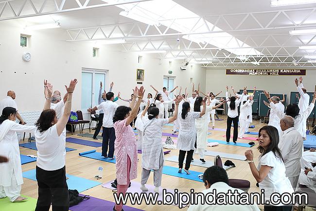 RCT hall yog group - international yoga day celebrations