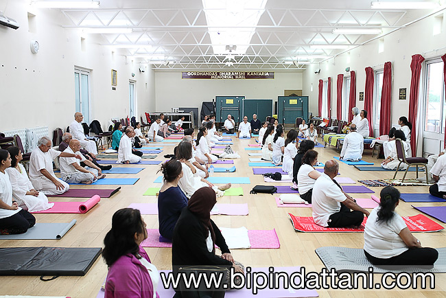 RCT hall in harrow for RCT yog group - international yoga day celebrations