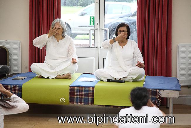 yog group teachers for international yoga dat at RCT hall HA2 6NG