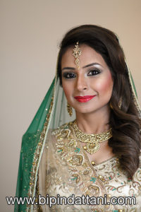 latest bridal portrait by top Indian wedding photographer in London