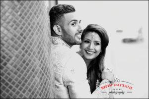 natural moment captured of Rakhee & Mihir at posr wedding portrait session