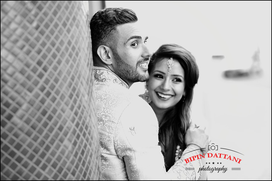 natural moment captured of Rakhee & Mihir at posr wedding portrait session