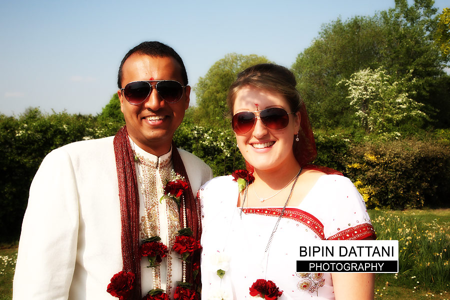 candid indian wedding photography in Kent for post ceremony couple portraits