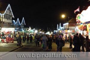 christmas fair at pinner village in Harrow