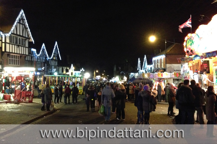 christmas fair at pinner village in Harrow