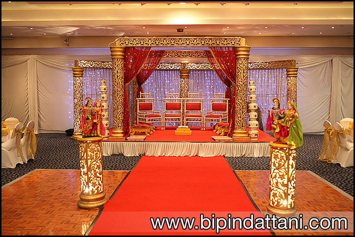 The Vip Lounge wedding mandap stage