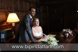 registry wedding at The Archbishop's Palace by indian wedding photographer Kent