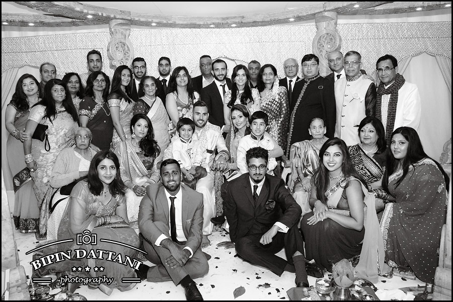 classic black and white wedding pictures of family