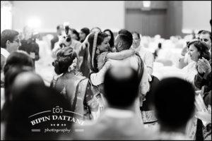 b&w wedding photo in London by award winning indian wedding photographers