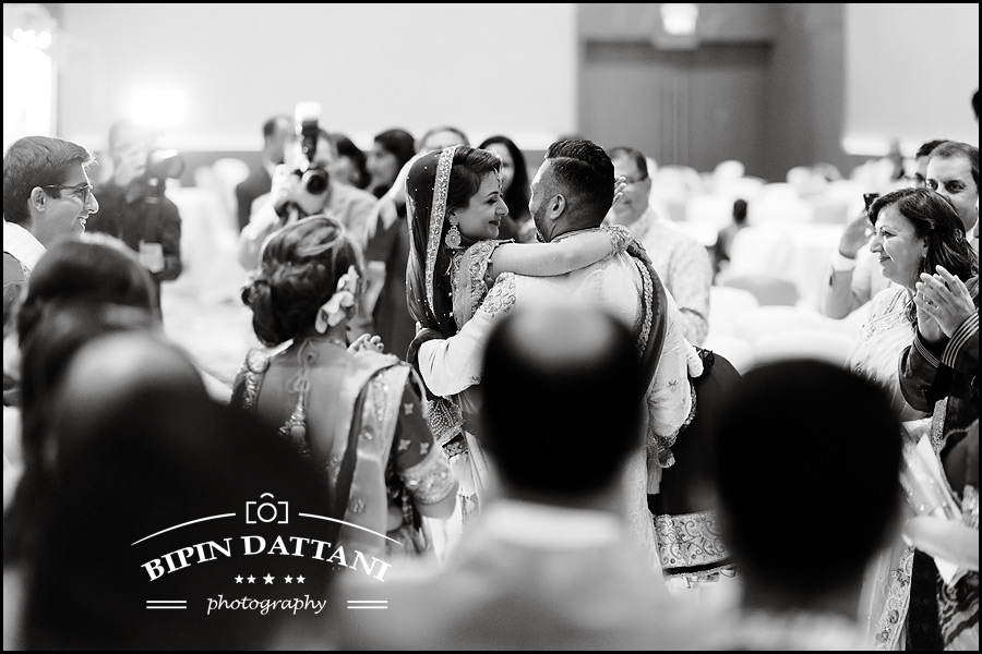b&w wedding photo in London by award winning indian wedding photographers