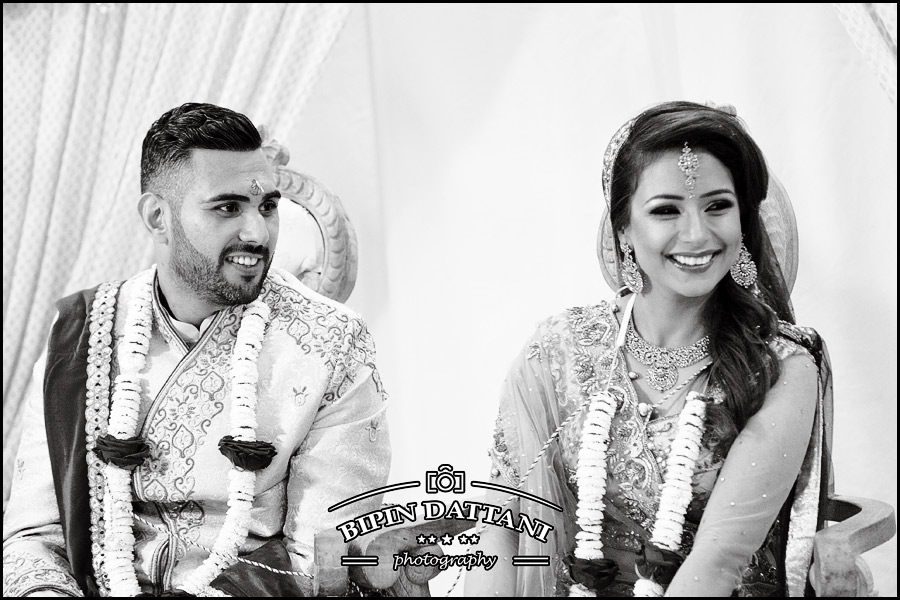 black and white wedding portrait vs color photos at hindu wedding