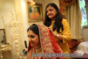 Indian Make up Artist Minal Shah of London getting bride ready