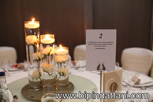 Indian wedding reception detail photos at London Hilton Wembley