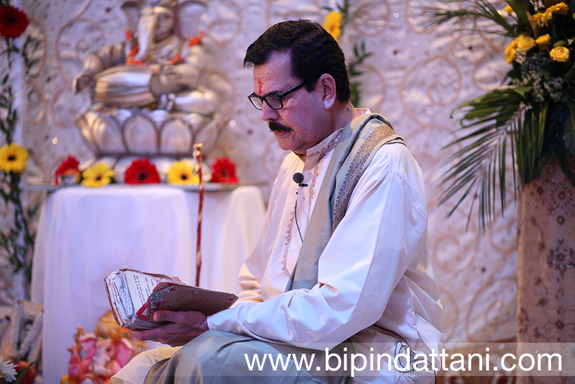 Rajubhai Mehta Hindu Priest of London at pre wedding ceremony