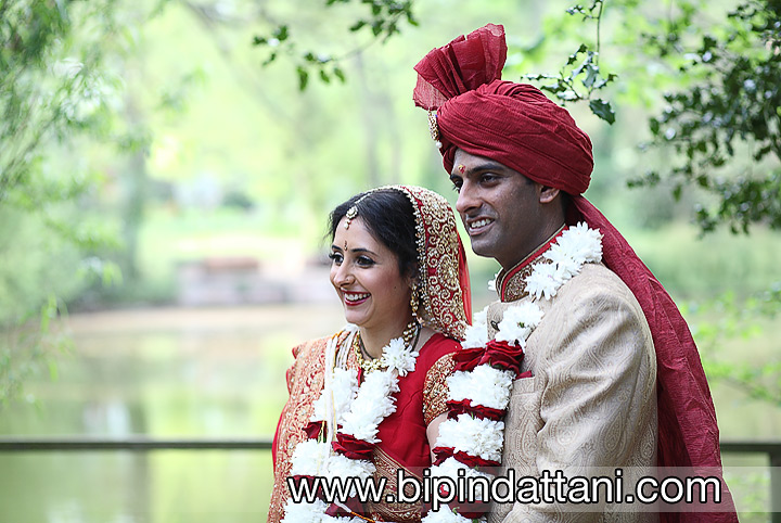 Couple portraits in the grounds ISKCON Bhaktivedanta Manor hare krishna temple watford - Bipin Dattani Wedding photographer