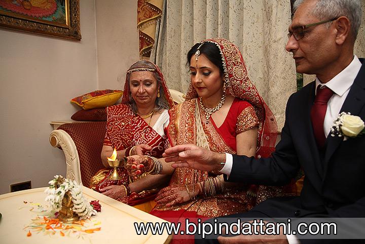 Bride's ganesh puja a pre-wedding day ceremony at hare krishna temple watford,