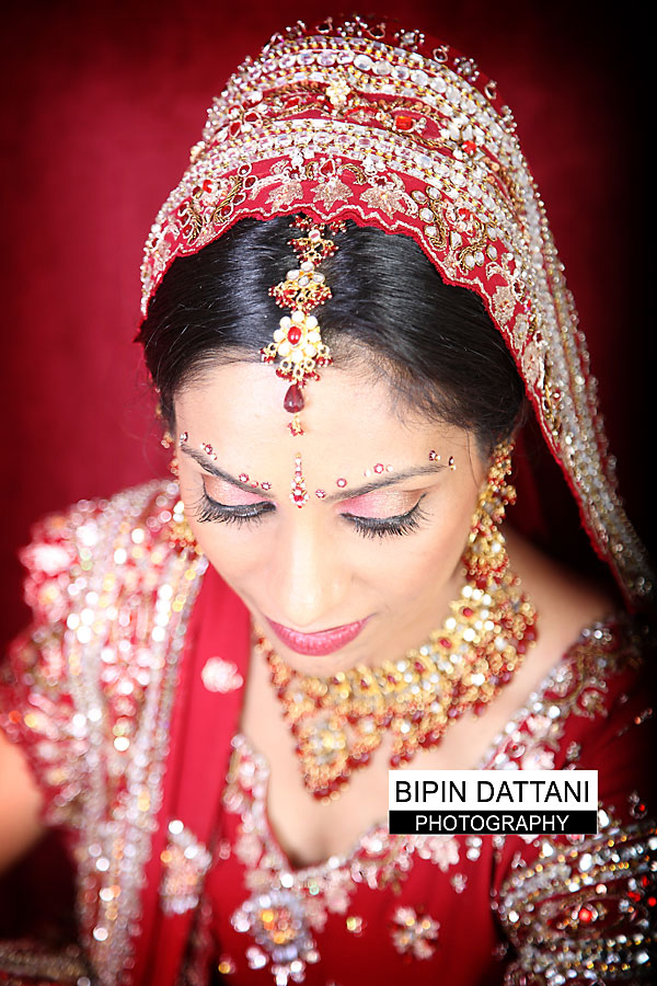sikh bridal portrait on wedding day