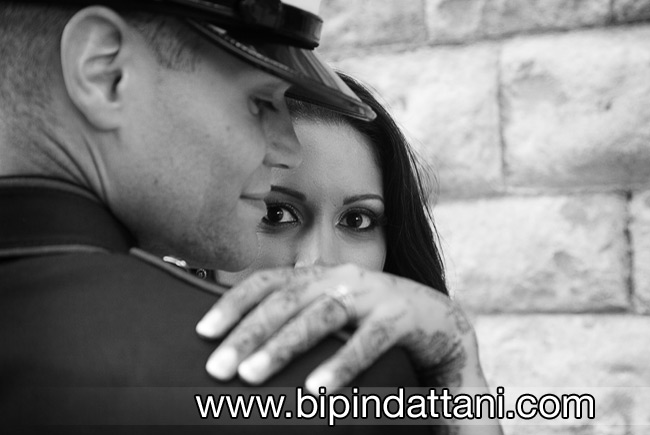 impact of a black of white couple portrait on wedding day
