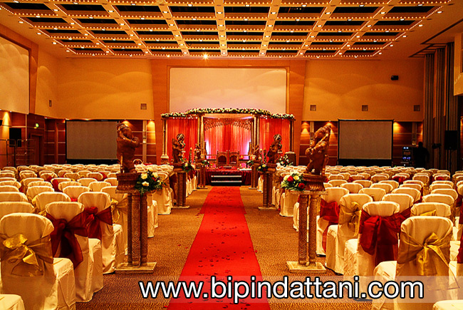 Indian wedding mandap and hall setup at Hammersmith Novotel