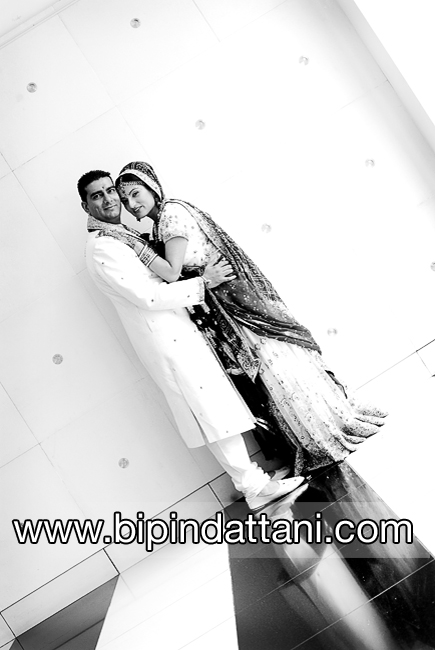 Couple portraits at Novotel London West Hotel Hammersmith Indian Wedding