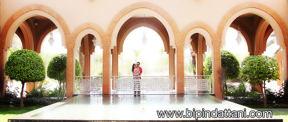 portraits after wedding day at  Hotel Pullman Marrakech Palmeraie Resort and Spa