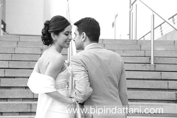 indian couples portrait after registry wedding