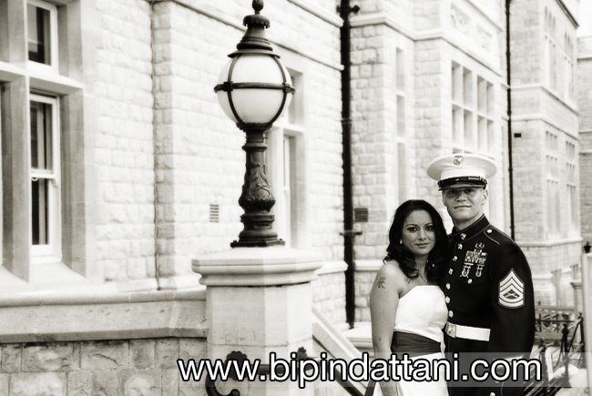 wedding photography outside ealing town hall in west london