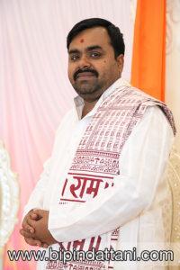 Headshot of Palkeshbhai Trivedi priest at Dhamecha Lohana Centre in South Harrow