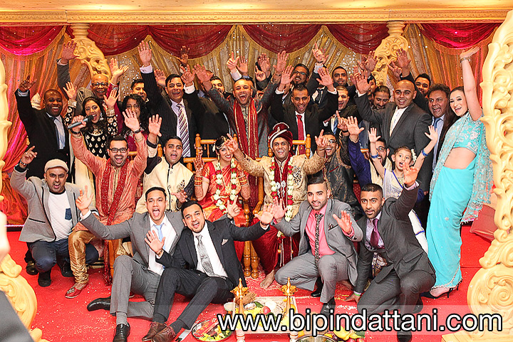 Saffron D'or weddings group picture by local asian wedding photographers