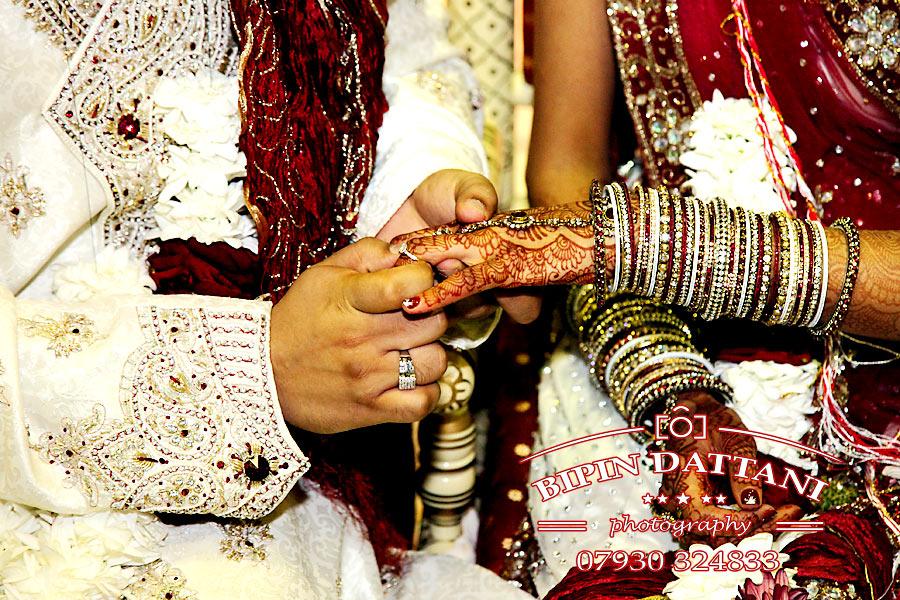 capturing ring ceremony indian wedding photographers Croydon CR0