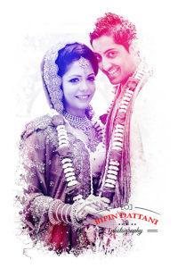 Sonal & Aniish's wedding day portraits by indian wedding photographers Stanmore HA7
