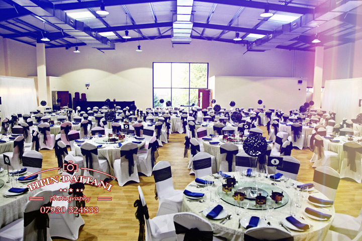 Dhamecha Lohana Centre Indian Wedding Venue Harrow set up for reception