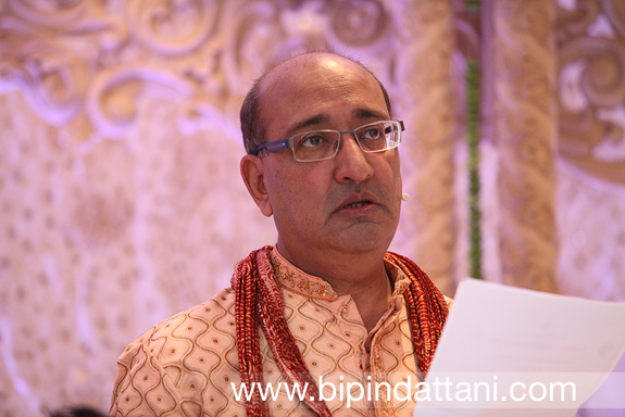 vasudev mehta priest at a hindu wedding