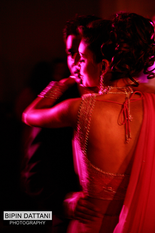 Bipin Dattani Gujarati Wedding Photographer London photo of  couple's 1st dance