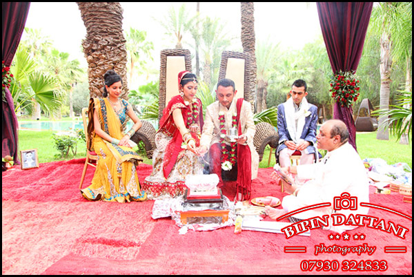 The primary witness of a Hindu marriage is the fire-deity (or the Sacred Fire) Agni