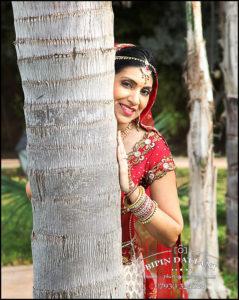 indian bridal portrait at destination wedding
