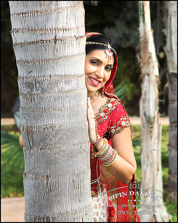 indian bridal portrait at destination wedding