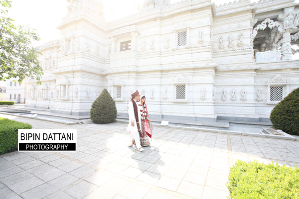 Swaminarayan Mandir Neasden Temple for Neena & Purav wedding pictures