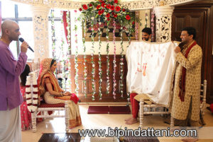 Anterapat - a cloth is placed between bride and groom when she enters the mandap